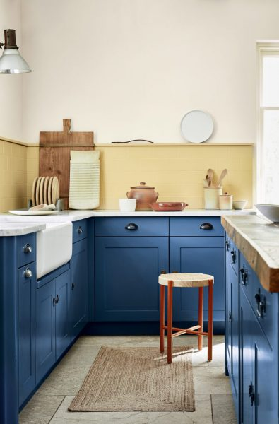 Verf van Little Greene in de keuken